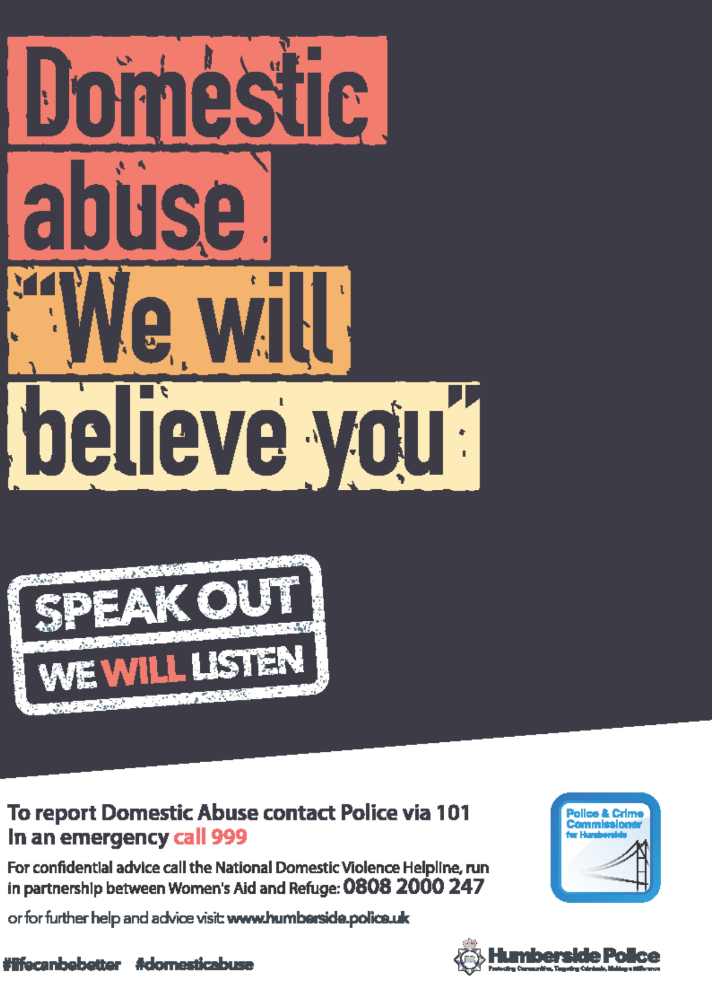 Humberside Police Domestic Abuse Campaign Poster 1