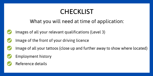 Getting prepared - a checklist of what you will need to have ready when the window opens