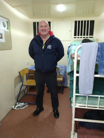 Pat Tuohy Hull and East Yorkshire lead in the prison cell van